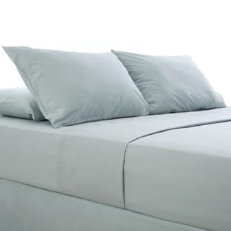 Miss Lyn Plain Flat Sheets Duck Egg 200 Thread Count, 100% Cotton Percale