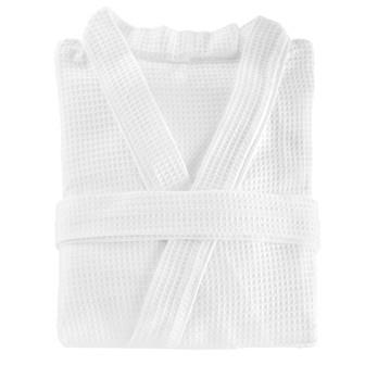 Miss Lyn Waffle Weave Gowns White 100% Cotton Waffle Weave