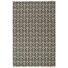 Miss Lyn Leaf Handwoven 120x180cm Rugs Black 100% Cotton
