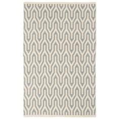Miss Lyn Nazca Handwoven 120x180cm Rugs Light Grey 100% Cotton