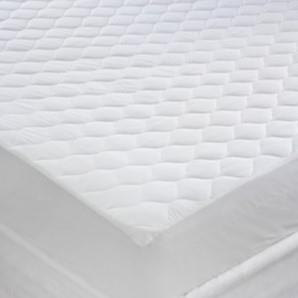 Miss Lyn Quilted Mattress Protectors White 200 Thread Count, 100% Cotton Percale