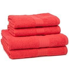 Miss Lyn 450gsm Egyptian Towels Red Pure Cotton