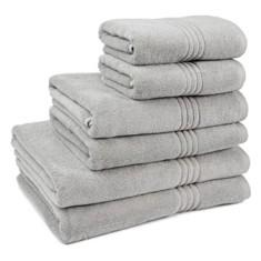 Miss Lyn Miss Lyn Hotel Collection Towels Light Grey 100% Cotton