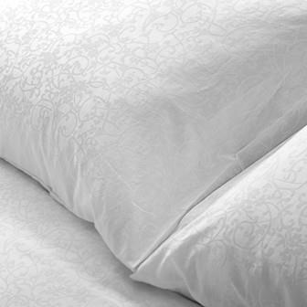Miss Lyn Hemstead Duvet Covers White 300 Thread Count, 100% Cotton Jacquard