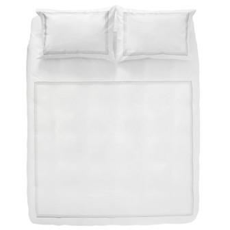 Miss Lyn Multi Satin Duvet Covers White 200 Thread Count, 100% Cotton Percale