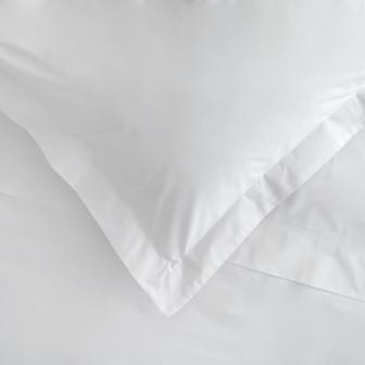 Miss Lyn Plain Oxford Duvet Covers White 200 Thread Count, 100% Cotton Percale
