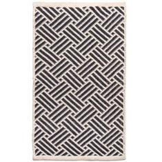 Miss Lyn Interlock Handwoven 60x80cm Rugs Navy 100% Cotton