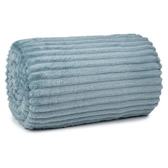 Miss Lyn Ribbed Flannel Throws Blue Polyester