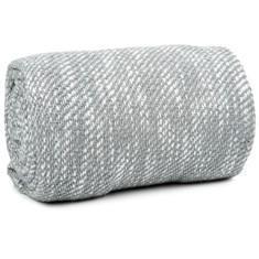 Miss Lyn Slub Throws Light Grey 100% Cotton