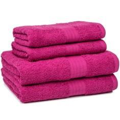 Miss Lyn 450gsm Egyptian Towels Fuschia Pure Cotton