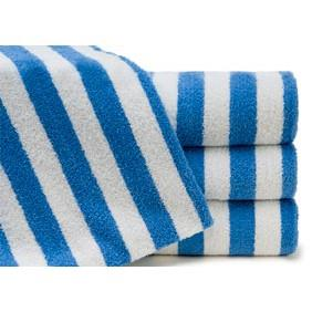 Miss Lyn 480gsm Stripe Towels Blue 100% Cotton